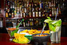 Cocktails with Chips and Salsa