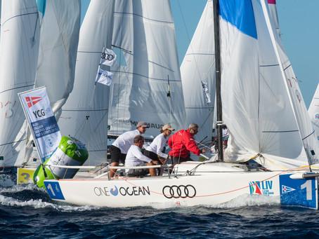 Yacht Club Gaeta in testa alla fine della prima giornata della finale dell'Audi - Italian Sailin