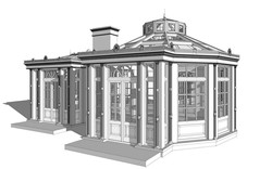 Перспектива главного фасада