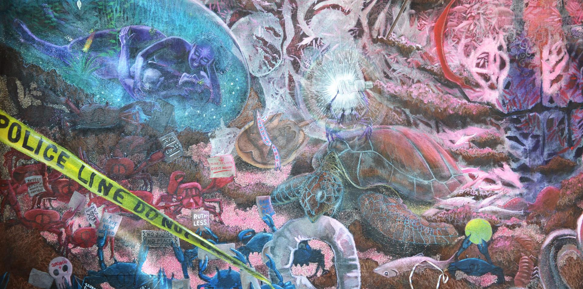 Detail: bottom left