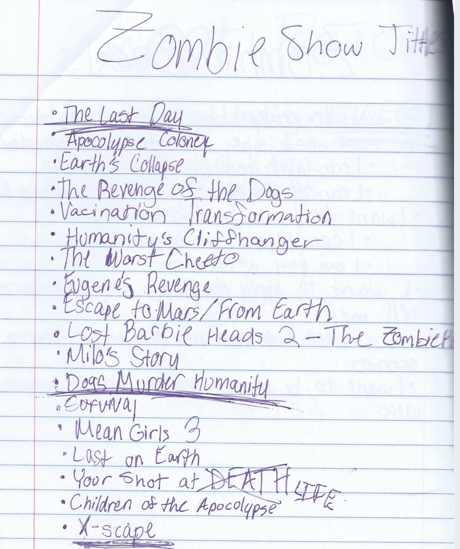 Potential Show Titles