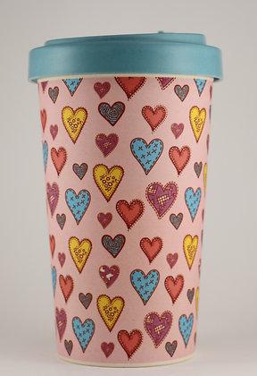 Bamboo Cup - Cœur Rose - 500ml