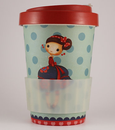 Bamboo Cup - Little Girl - 400ml