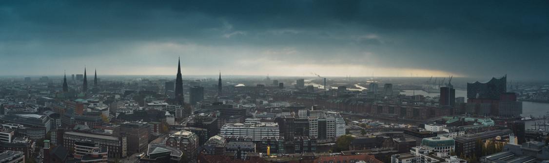 A sunny day in Hamburg