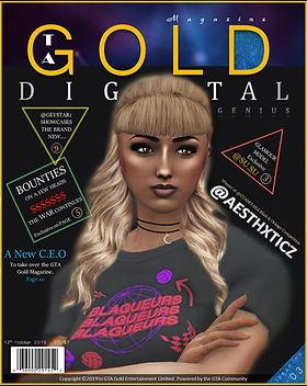 GTA Gold Magazine Editon 3 featuring Aesthxticz