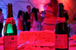 Uplights At Wedding Brings Out Wine