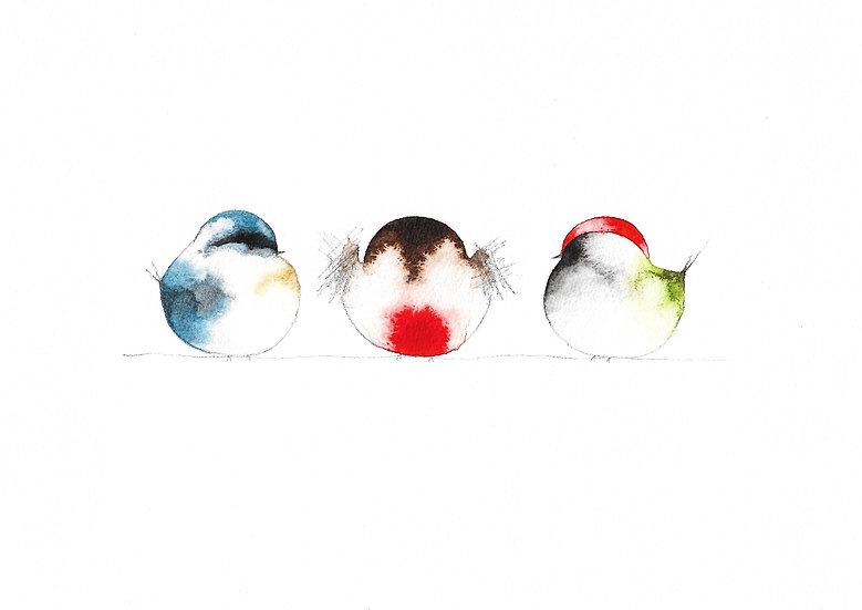 Little birds on a wire
