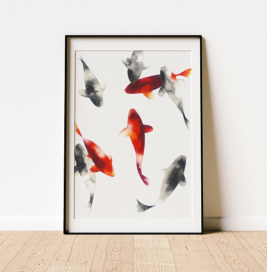 Monochrome and Vermillion - Limited Edition Print