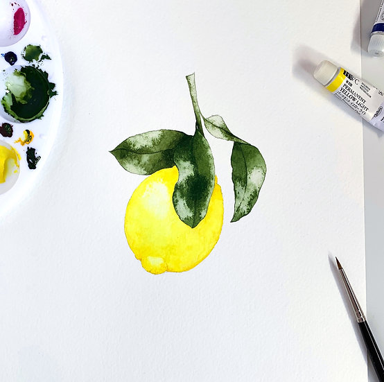 Little Amalfi Lemon - limited edition print