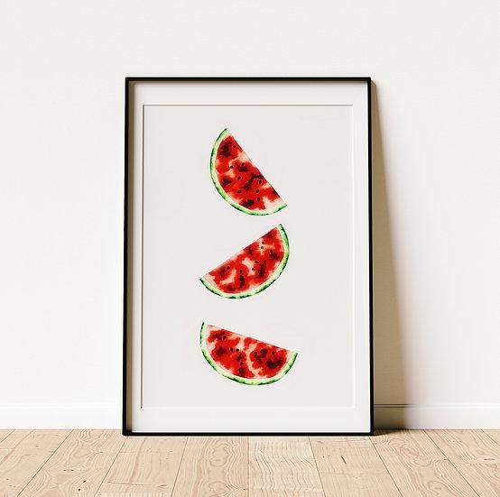 Watermelon Triptych