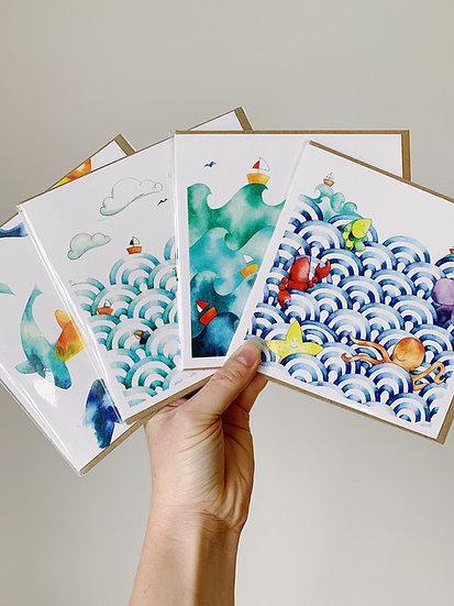 Pack of 4 - Birthday bestsellers Large (15 x 15cm)