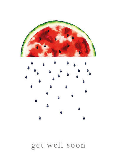 Get well soon - Watermelon Cloud