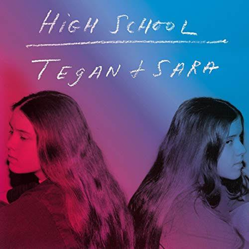 A photo of Tegan and Sara in their teens and the momoir's title written in a chalkboard font.