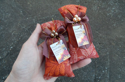 Sache perfumado tecido laranja