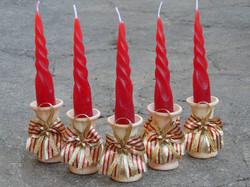 Velas de Natal Vela com Castiçal