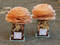Lembrancinhas casamento rosa de madeira