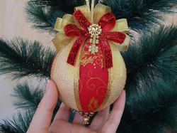 Bolas de Natal artesanal