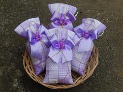 Sache perfumado tecido lilás