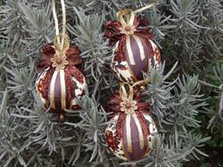 Bolas de Natal artesanal trio marrom