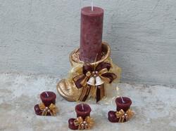 Bota Natal com velas