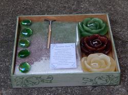Jardim Zen Pequeno com Rosas