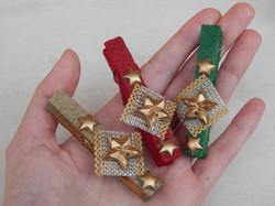Natal lembrancinha prendedor decorado