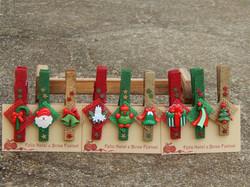 lembrancinha prendedor decorado natal