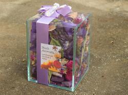 Potpourri aromatizado vidro lilás
