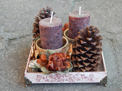 arranjo marrom natal 2 velas (3)