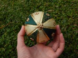 Bolas de Natal artesanal trio verde