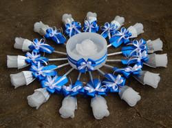 Vela Valsa 15 Anos Azul royal