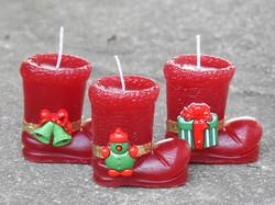 Botinha de Natal vela