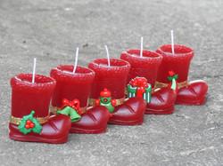 Velas de Natal Botinha