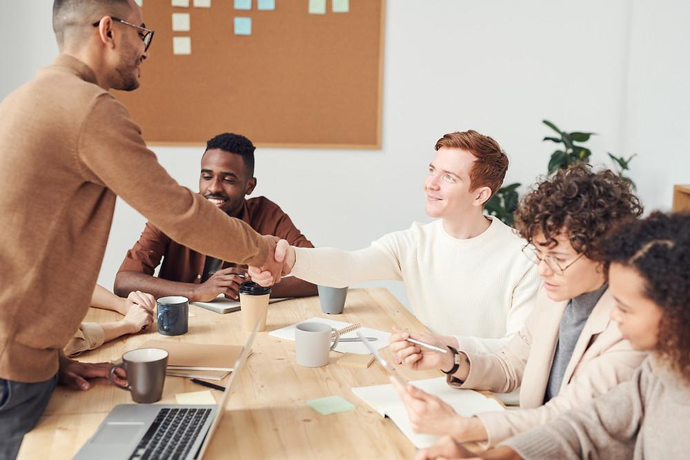 LinkedIn Business Profile - Business Meeting