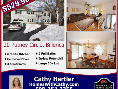Just Listed! 20 Putney Circle, Billerica