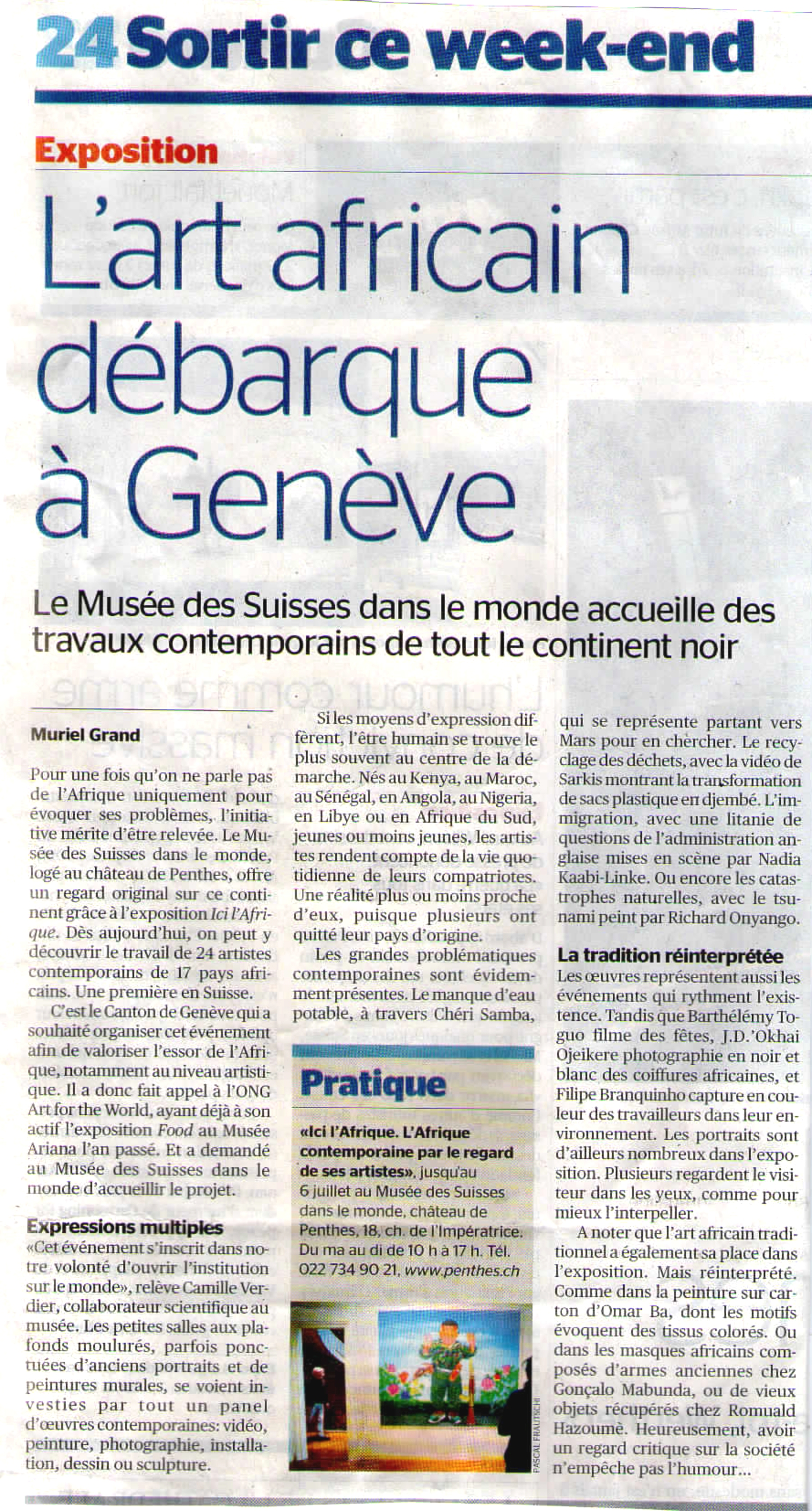 TRIBUNE DE GENEVE, 8/05/2014