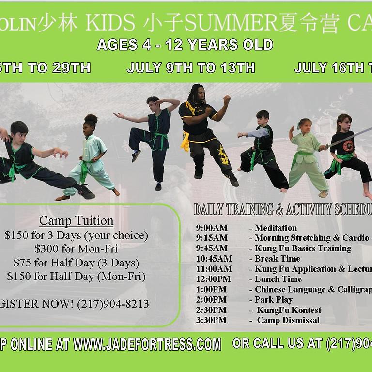 Shaolin XiaoZi Summer Camp Week 1