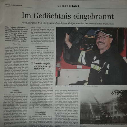 Zeitungsartikel Rainer Melliger