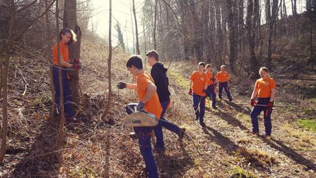 Speziall Übung im Wald