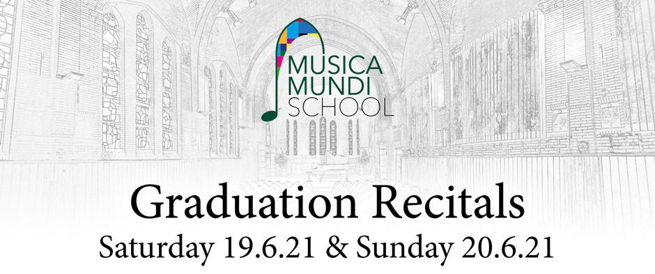 🎶 👩🎓 Graduation Recitals 👨🎓🎶