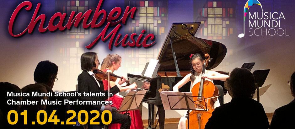 Chamber Music Concert given by the Musica Mundi School's Young Talents. 🎼 🎻 🎹