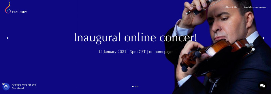 Maxim Vengerov launches his online lessons and masterclasses