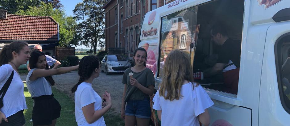 Ice Cream van visited our school today 😋