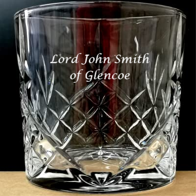 Crystal Whisky glass, engraved