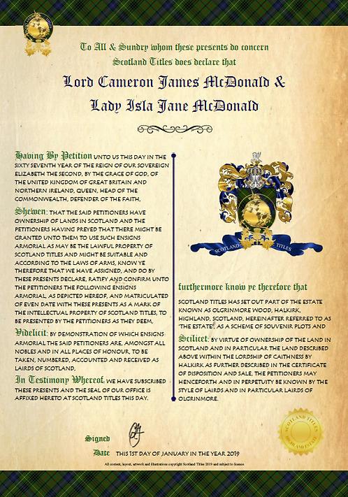 Title Crest - Award of Emblem