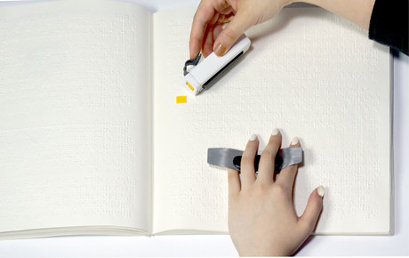 Braille tracking tool