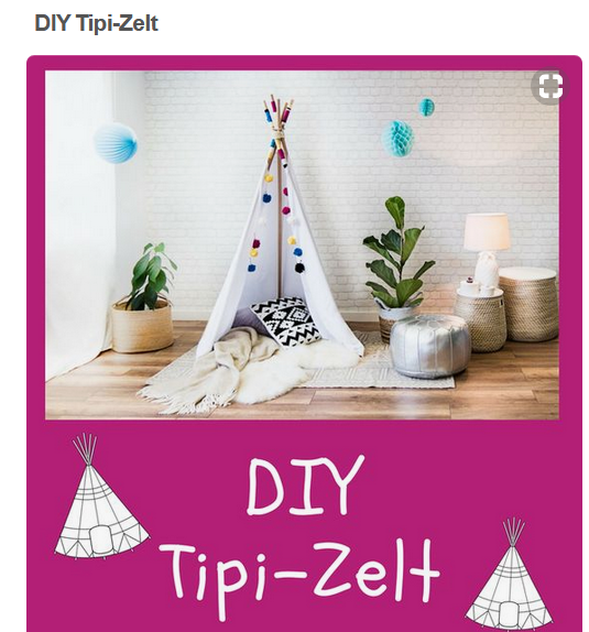 DIY Tipi Zelt