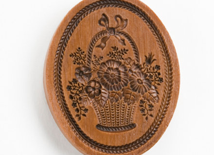Basket of Flowers Springerle Cookie Mold  by House on the Hill M5366