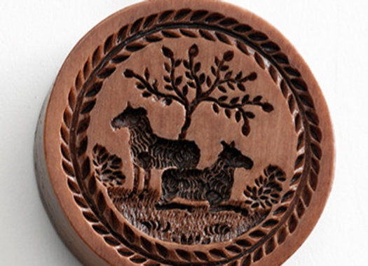 M5690 Sheep in Meadow Springerle Cookie Mold  by House on the Hill M5690