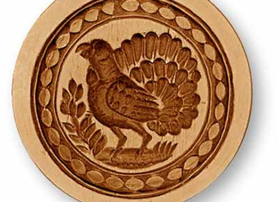 Turkey Grouse springerle cookie mold by Anise Paradise 3379